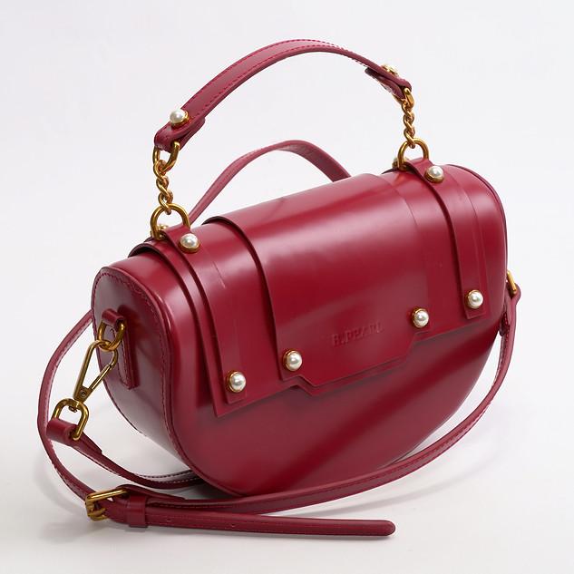Burgandy Red Half Moon Leather Purse - TX-BP1903-2