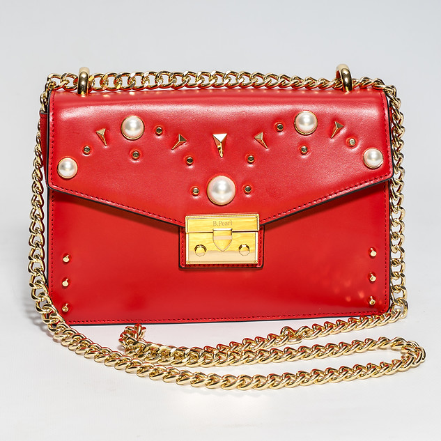 Red Leather B.Pearl Purse,