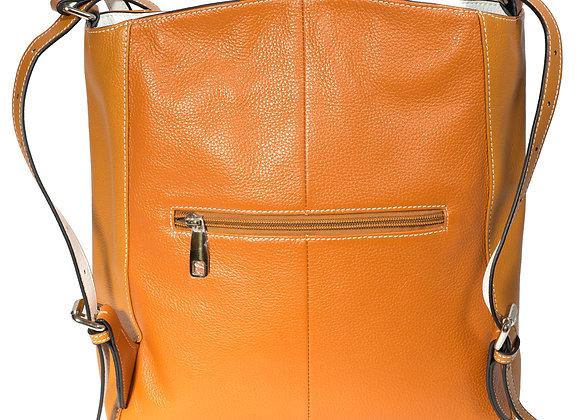 B.Pearl Tan Backpack Purse