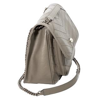 B.Pearl Soft Quilted Grey Handbagjpg