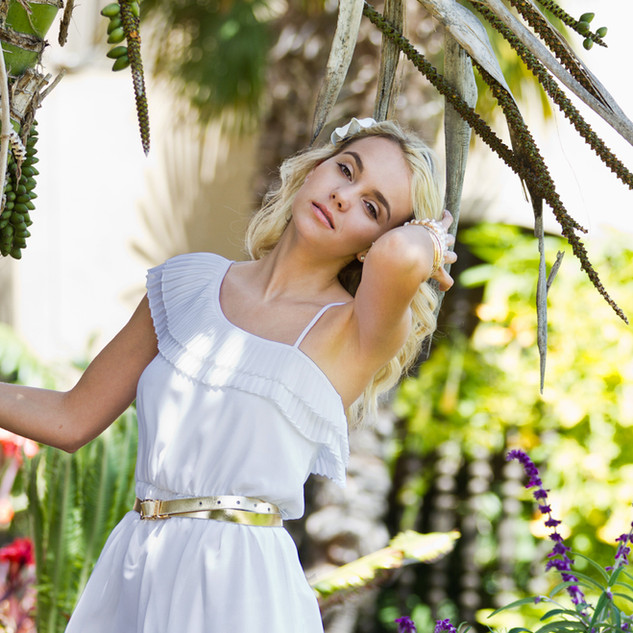 White Dress, Fashion Portrait, San Diego
