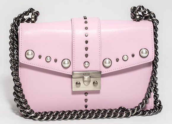 B.Pearl Pink Leather Purse, No Tab