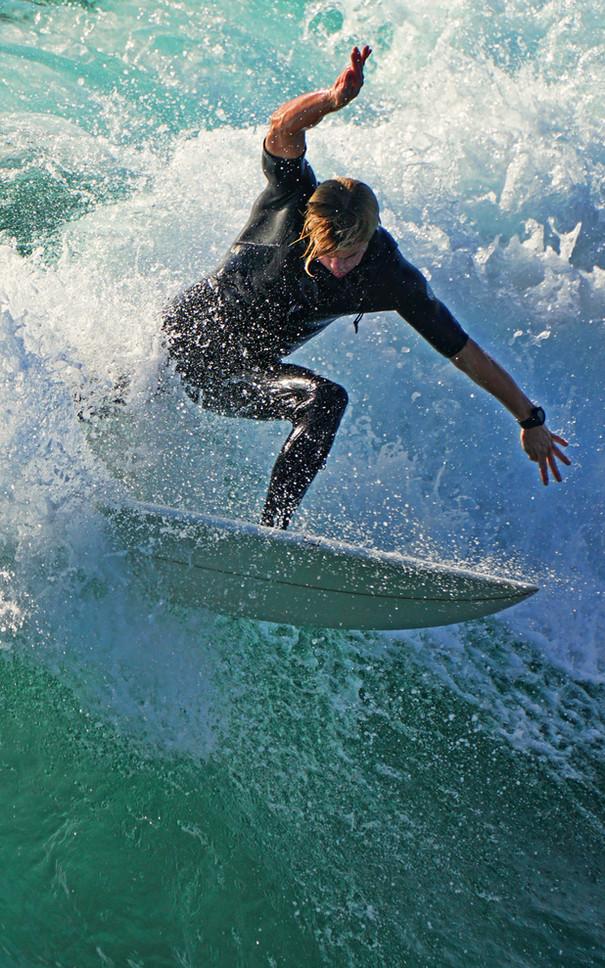 Surfing Portrait At Oceanside Pier, CA