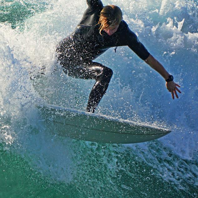 Surfing Portrait San Diego Waves