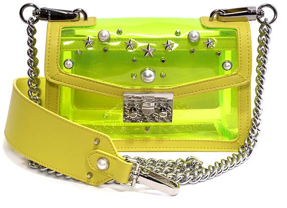 B.Pearl Designer Plastic and Leather Purse, Small