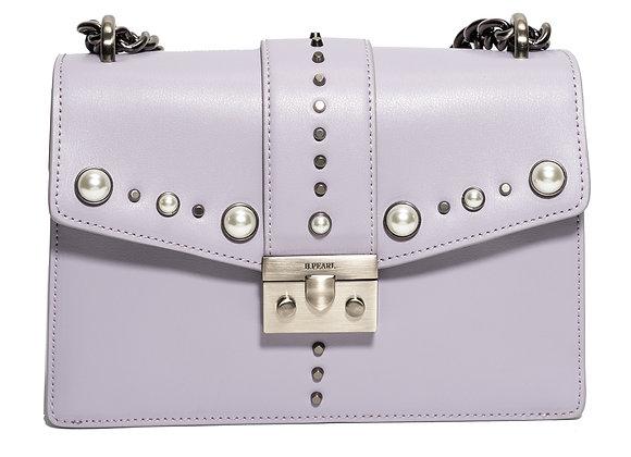 B.Pearl Lavender Leather Purse, No Tab