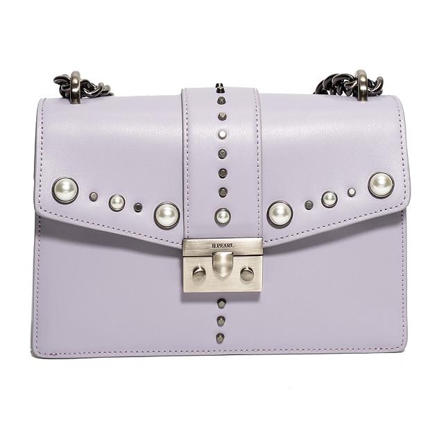 Lavendar B.Pearl Modern Cut Leather Purse - JK-BP2688-1