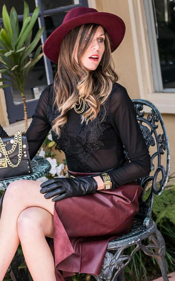 Model Photo Shoot, Black Lace, La Jolla CA