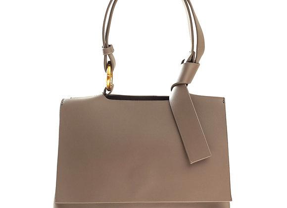 B.Pearl Warm Grey Leather Purse