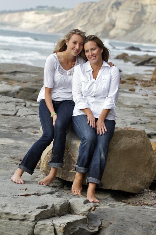 Mom and Daughter Beach Portrait, La Jolla Shores