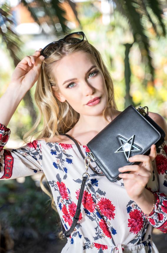 Model, Fashion Photography Bpearl Star Purse, Encenitas CModel Ksenia A