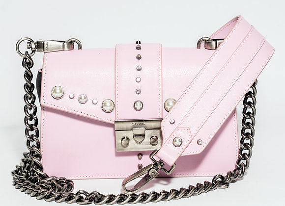 B.Pearl Small Pink Leather Purse, No Tab