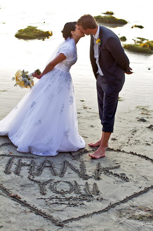 Thank You Kiss, LDS Wedding San Diego