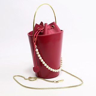 B.Pearl Red Leather Pocket Purse - NY-BP1903-1