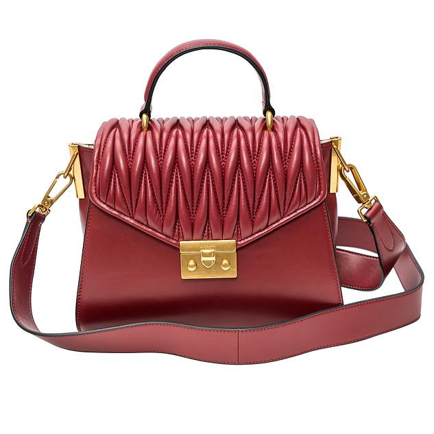 """Burgandy"" Classic Luxury Leather Purse - JK-BP1901-1, $429"
