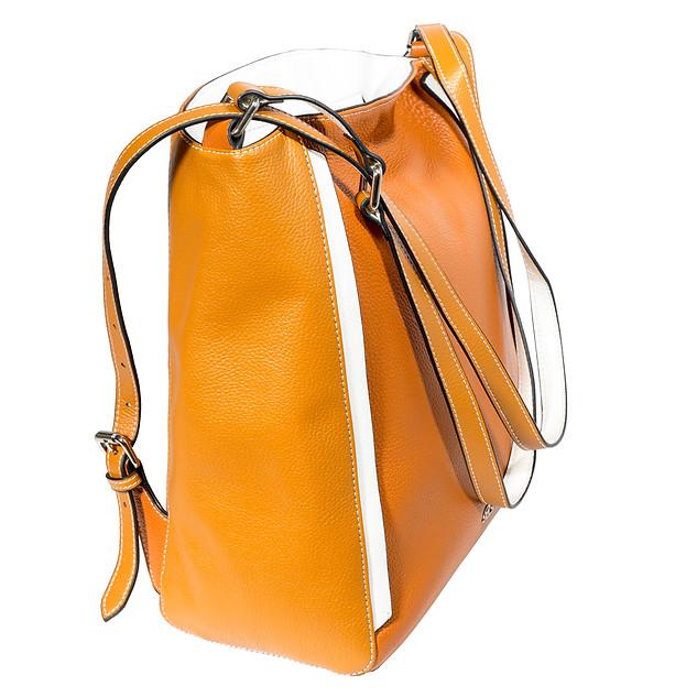 B.Pearl Large Backpack Purse Tan Shopper