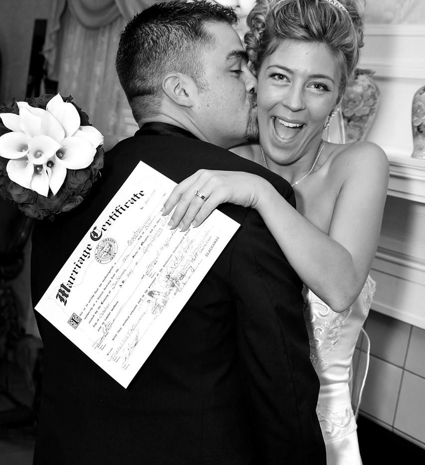 It's Official, Wedding Portrait