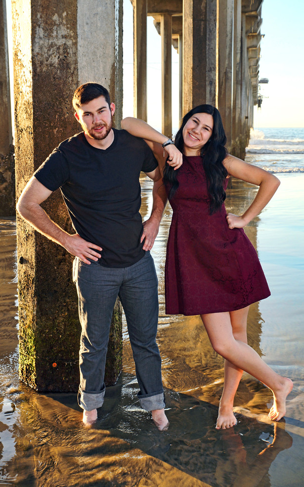 Brother and Sister Family Beach Portrait, La Jolla Shores Beach
