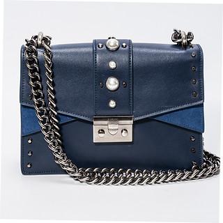 B.Pearl Navy Blue Leather Purse JK-BP2677-1