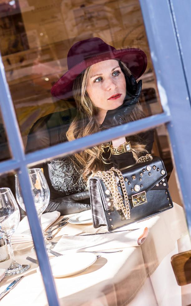Model Photography, Through Window, La Jolla CA