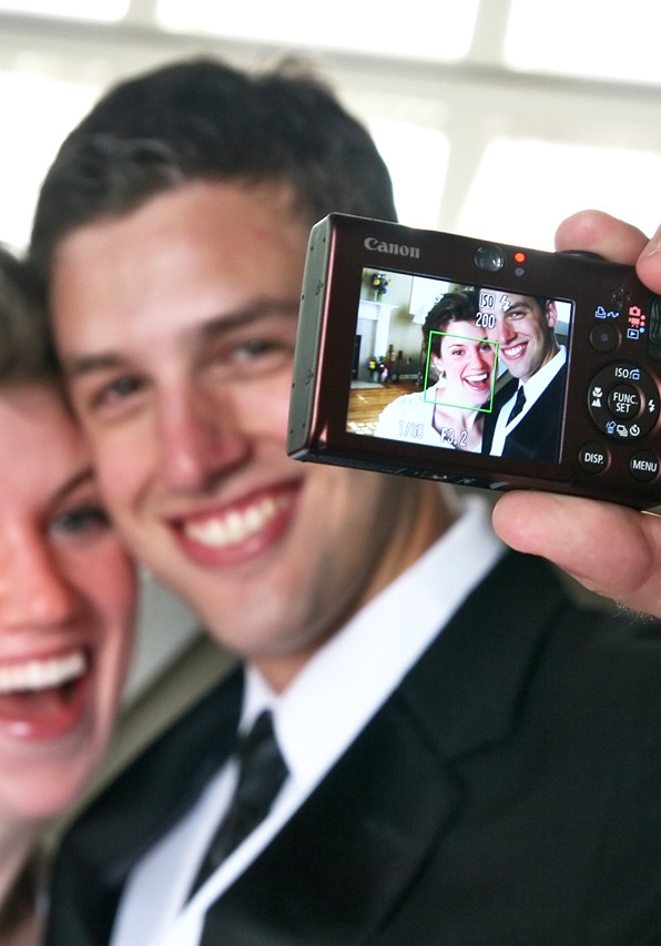 Fun Wedding Pictures LDS Bride and Groom