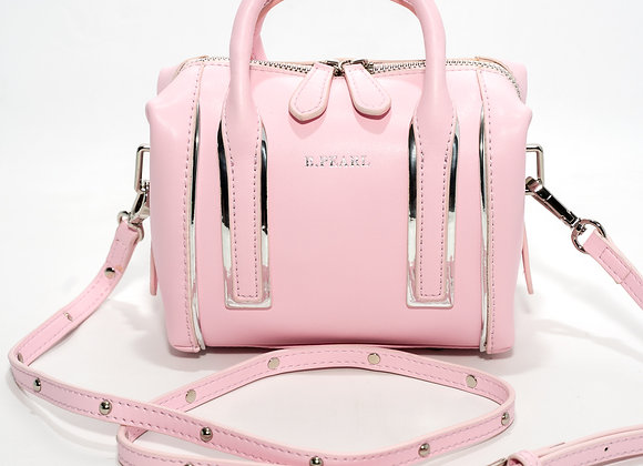 BBG B.Pearl Candy Pink Leather Handbag