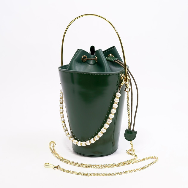 B.Pearl Green Leather Pocket Purse - NY-BP1903-2