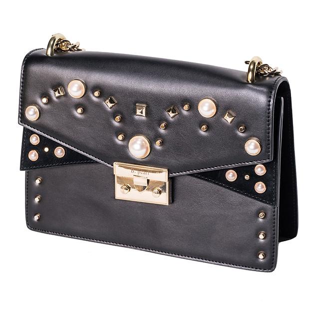 Black B.Pearl Leather Purse, JK-BP2699-2