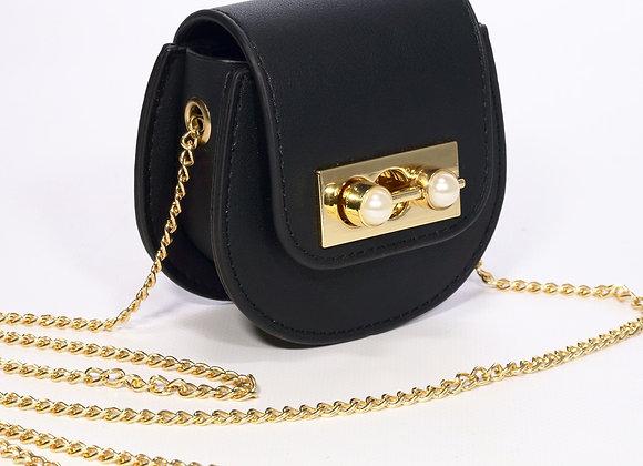 B.Pearl Mini Pearl Leather Purse