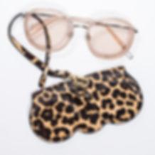 B.Pearl Leopard Print Sunglasses Case