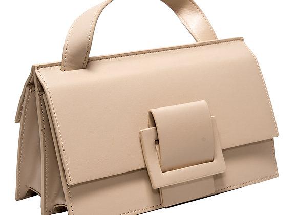 B.Pearl Modern Tan Leather Purse
