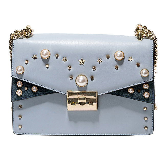Baby, Sky Blue B.Pearl Leather Purse, JK-BP2699-3