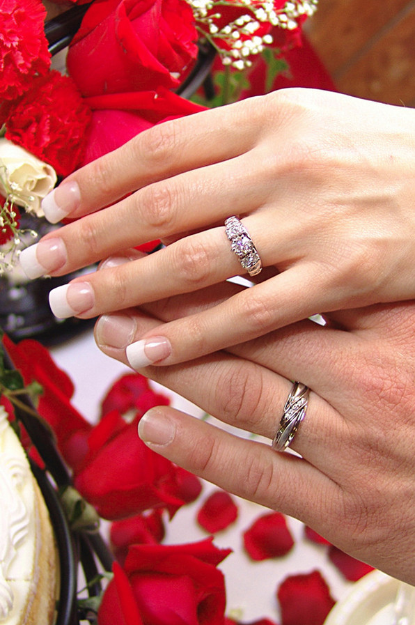 Ring Shot and Wedding Boquet