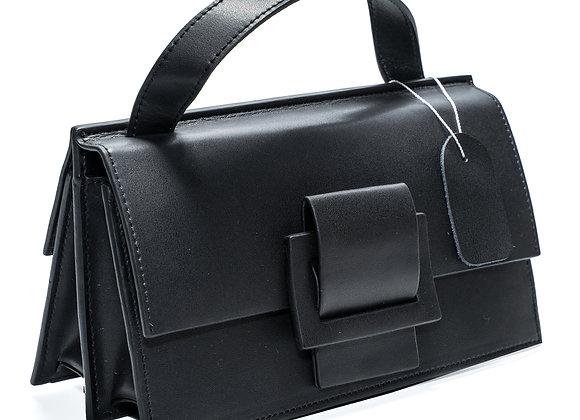B.Pearl Black Modern Leather Purse