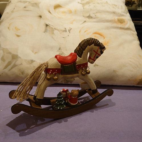 Christmas rocking horse