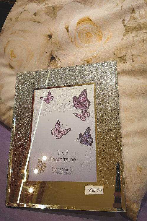 Photoframe 5*7 mirrored with glitter