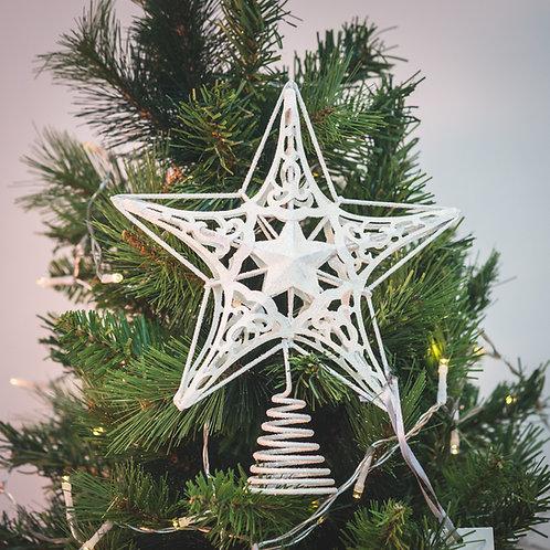 Star (white) Christmas Tree topper