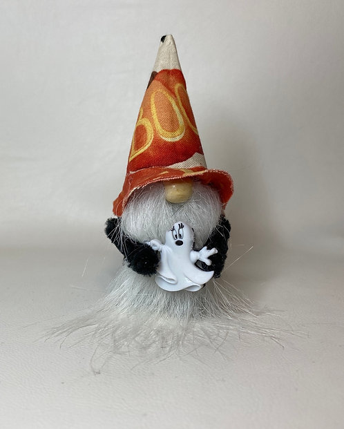 Cheery Gnome  -  Halloween  ghost  with boo hat