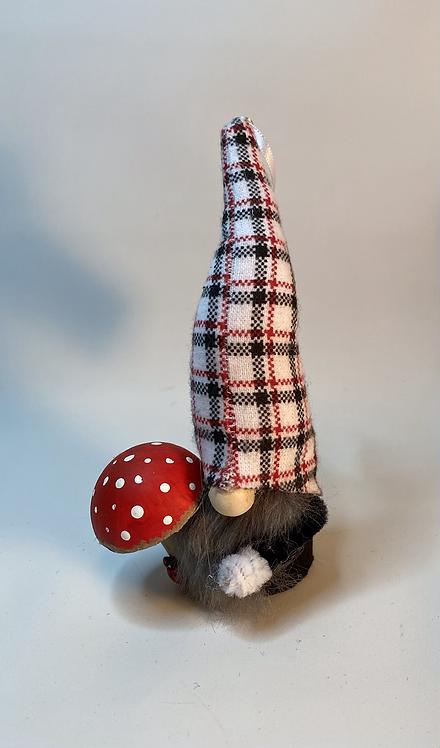 Cheery Gnome with mushroom and Ladybug