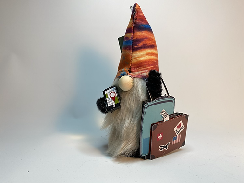 Cheery Gnome  -  phone and suitcase