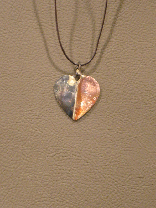 Copper and Steel Heart Pendant