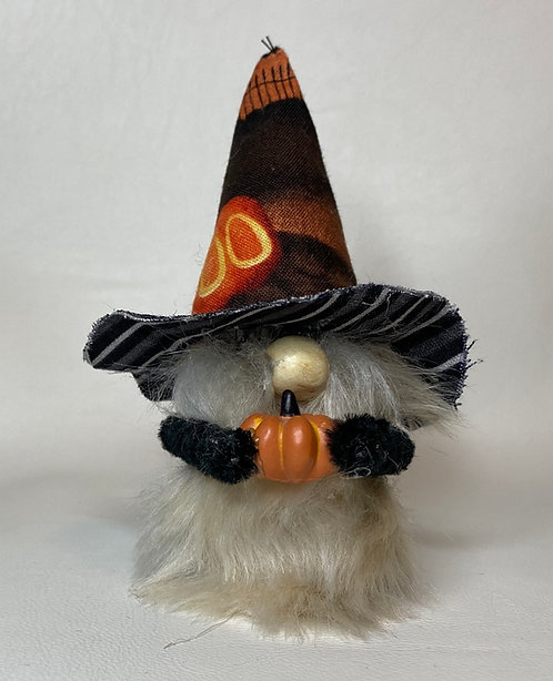 Cheery  Gnome - Halloween boo hat with pumpkin