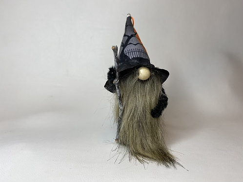 Cheery Gnome - Halloween  hat with staff
