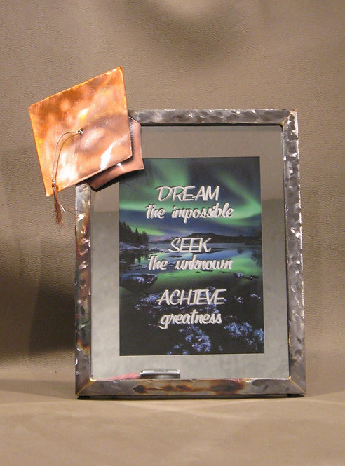 5x7 Metal Graduation frame With Copper Cap