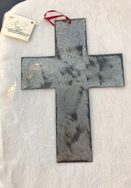 Sheet Metal Wide Hammered Cross