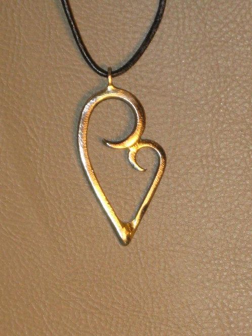 Mother Daughter Heart Pendent