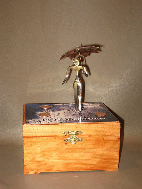 O'er Kid Pennies From Heaven with wooden keepsake box