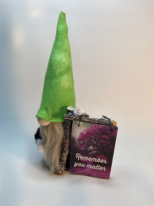 Cheery Gnome - Remember You Matter sign