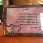 5x7 Love Is Frame with Double Heart