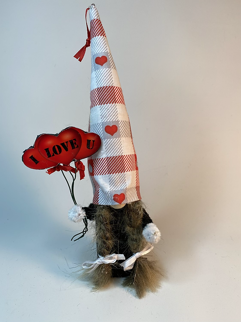 Cheery Gnome: Valentine I Love U  Balloons.